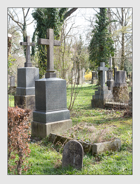 Grab der Familien Bäumler & Pollak auf dem Alten Südfriedhof München (April 2018)