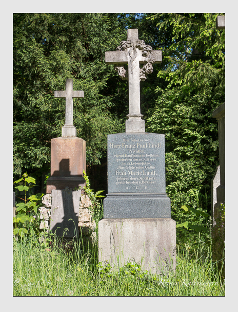 Grab der Familie Lindl auf dem Alten Südfriedhof München (Mai 2016)