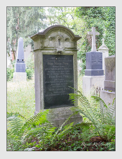 Grab der Familien Preu · Sandtner auf dem Alten Südfriedhof München (Juli 2016)
