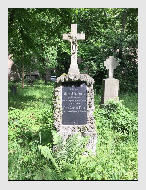 Grab der Familie Popp auf dem Alten Südfriedhof München (Oktober 2016)