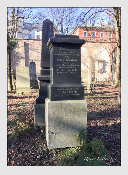 Grab der Familien Kah & Lieberth & Schröder auf dem Alten Südfriedhof München (Dezember 2017)