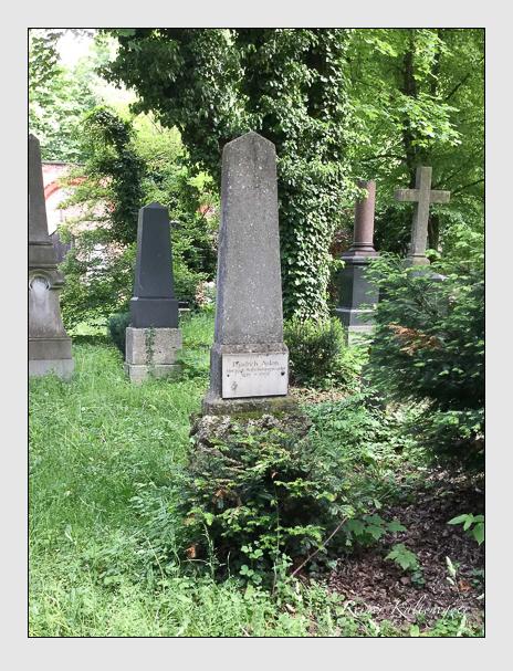 Grab der Familie Anton auf dem Alten Südfriedhof München (Dezember 2017)