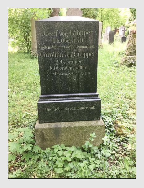 Grab der Familie Gropper auf dem Alten Südfriedhof München (Dezember 2017)
