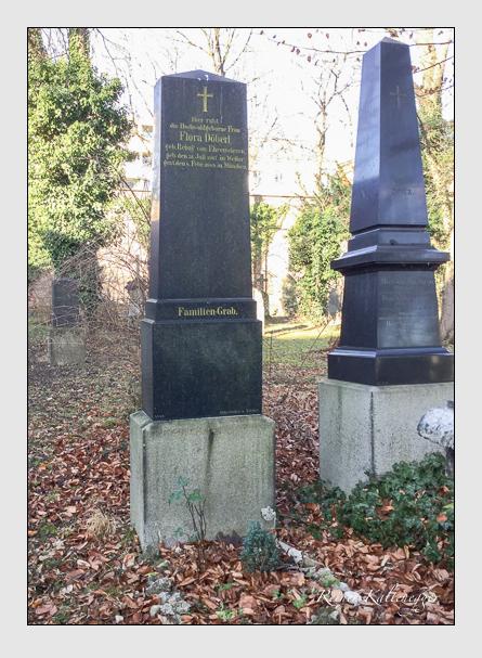 Grab der Familie Döberl auf dem Alten Südfriedhof München (Januar 2018)