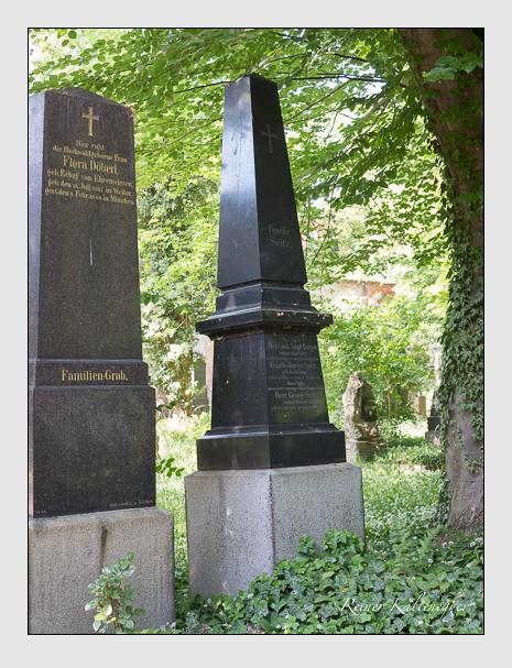 Grab der Familien Burger & Seitz auf dem Alten Südfriedhof München (Mai 2018)