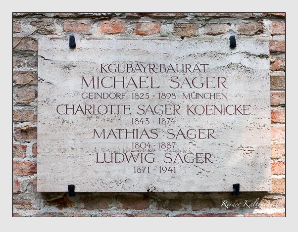 Grab der Familie Sager auf dem Alten Südfriedhof München (Mai 2018)