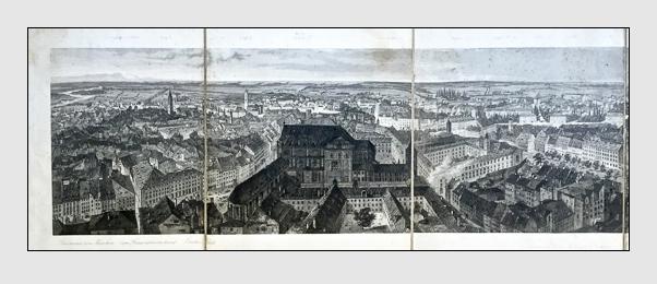 Johann Gabriel Friedrich Poppel: Panorama von München (1843)