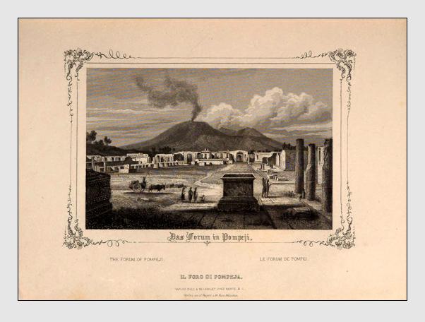 Johann Gabriel Friedrich Poppel: Das Forum in Pompeji (aus: »Neues Gemälde von Neapel«; München, ca. 1846)