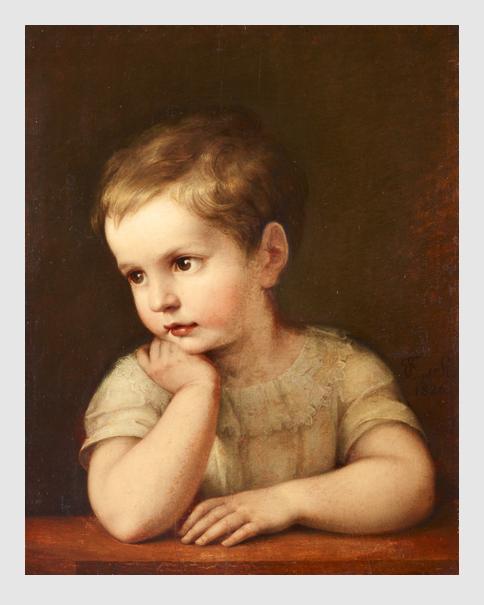 Marie Elektrine Freifrau von Freyberg: Kinderportrait. 1826. Städtische Galerie im Lenbachhaus und Kunstbau München.