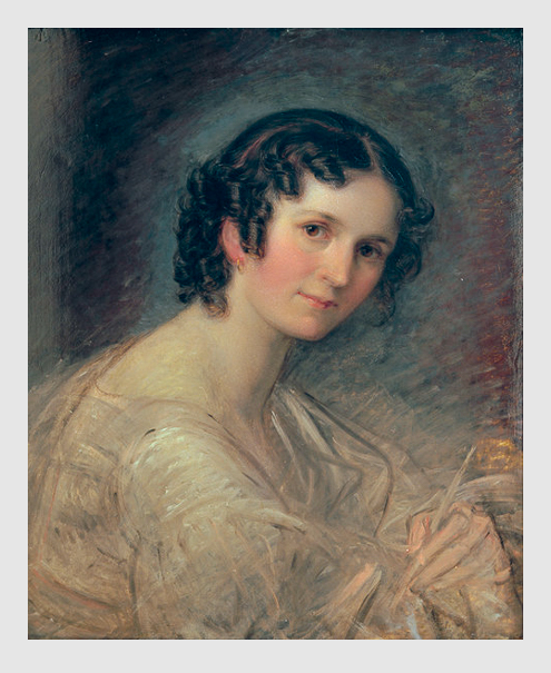 Marie Elektrine Freifrau von Freyberg: Selbstbildnis. ca. 1836.