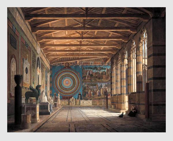 Leo von Klenze: Der Camposanto in Pisa. 1858. Bayerische Staatsgemäldesammlungen – Neue Pinakothek München.