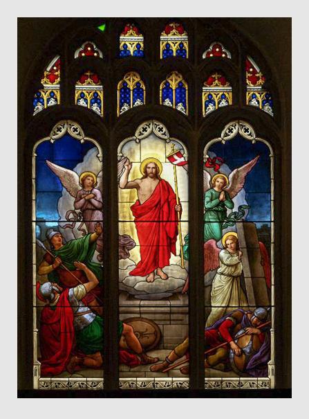 Max Emanuel Ainmiller: Glasmalerei-Fenster in der Universitätskirche in Cambridge/England..cambridge2000.com.