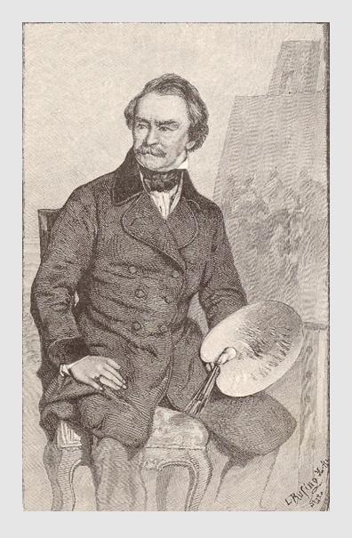 Albrecht Adam: Selbstportrait. Abbildung aus »Aus dem Leben eines Schlachtenmalers«, Stuttgart, 1886.