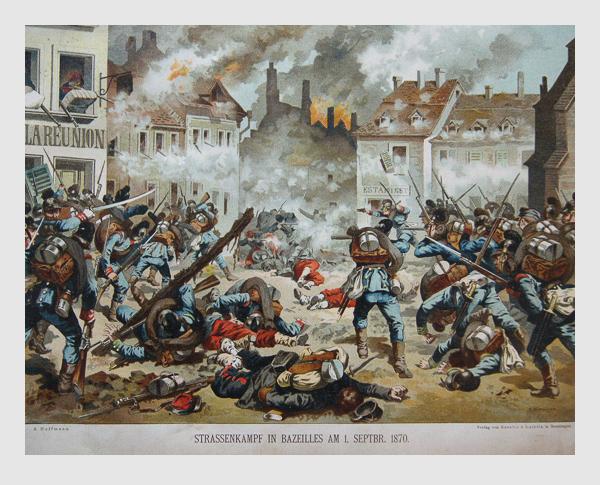 Strassenkampf in Bazeilles am 1. September 1870.