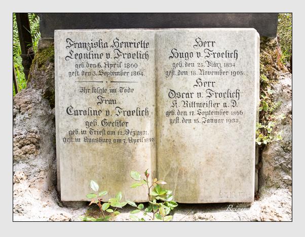 Grab der Familie Frölich auf dem Alten Südfriedhof München (Mai 2020)