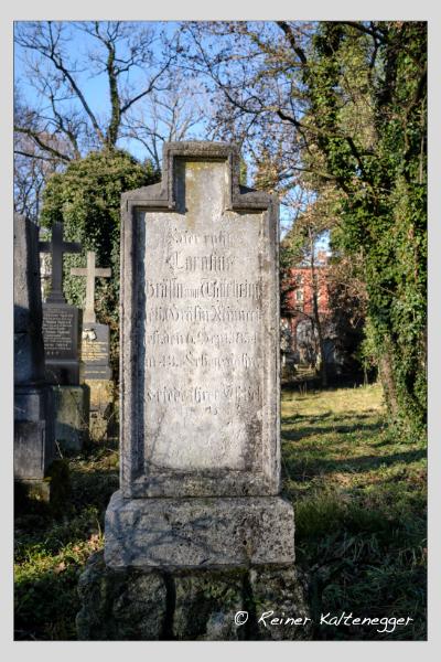 Grab der Familien Forstner · Thürheim auf dem Alten Südfriedhof München (Dezember 2020)