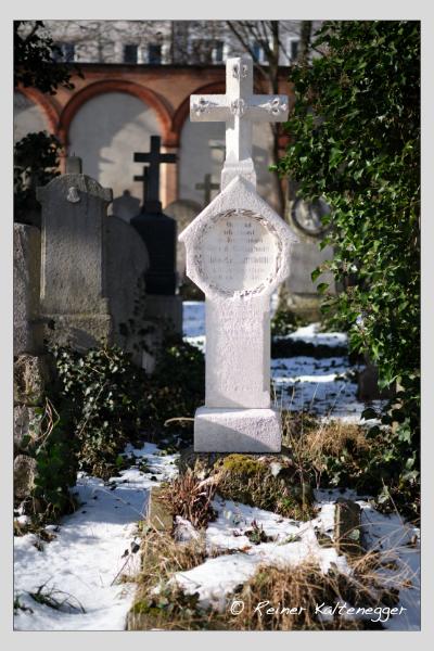 Grab der Familie Langenmantel auf dem Alten Südfriedhof München (Januar 2021)