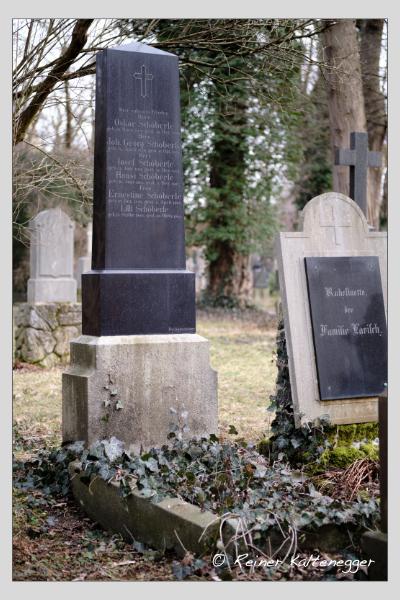 Grab der Familie Schöberle auf dem Alten Südfriedhof München (Dezember 2020)