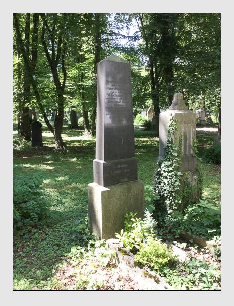 Grab der Familien Bader · Wiest auf dem Alten Südfriedhof München (Juli 2016)