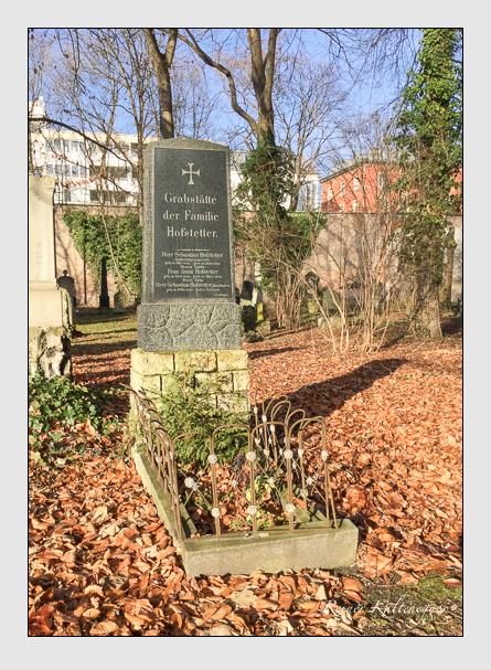 Grab der Familie Hofstetter auf dem Alten Südfriedhof München (Januar 2018)