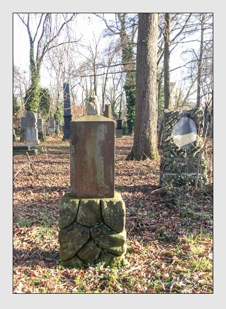 Grab der Familie Rummel auf dem Alten Südfriedhof München (Januar 2018)
