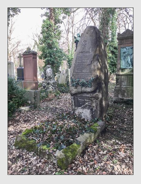 Grab der Familie Wolfrum auf dem Alten Südfriedhof München (März 2018)