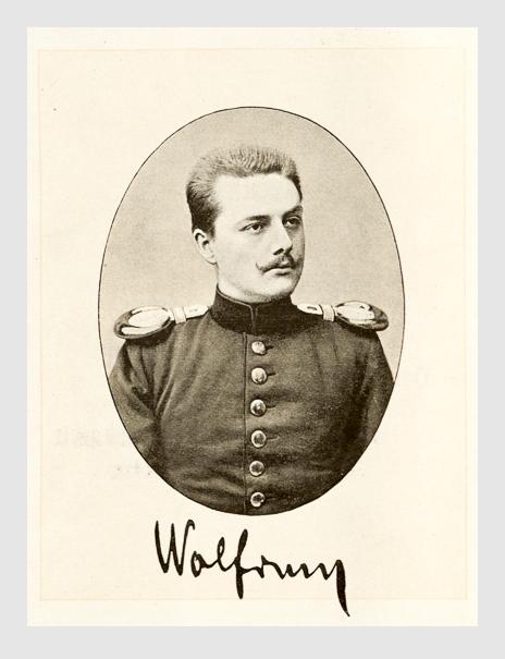 Wilhelm Wolfrum. Abbildung aus: Briefe und Tagebuchblätter von Wilhelm Wolfrum. München, 1893.
