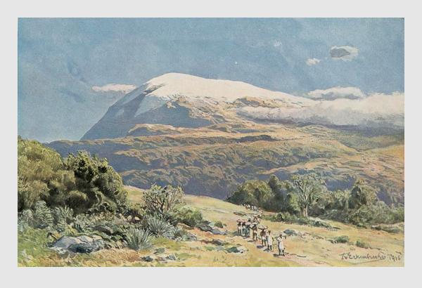 Themistokles von Eckenbrecher: Der Kilimandscharo. 1916.