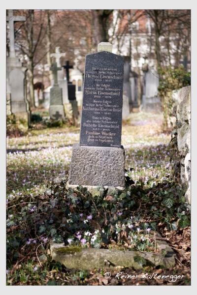 Grab der Familien Eisenschmid · Wacker auf dem Alten Südfriedhof München (Februar 2021)