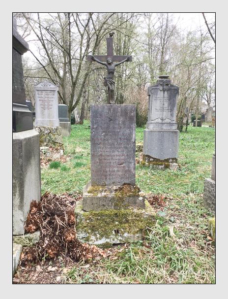 Grab der Familie Steinsdorf auf dem Alten Südfriedhof München (April 2018)