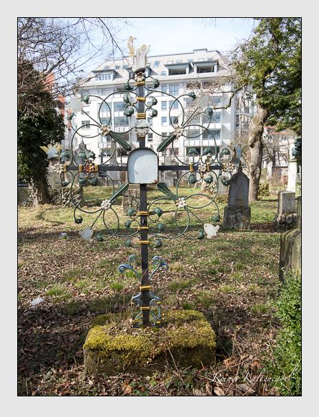 Grab der Familie Kannreither auf dem Alten Südfriedhof München (März 2014)