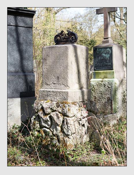 Grab der Familie Inama-Sternegg auf dem Alten Südfriedhof München (April 2016)