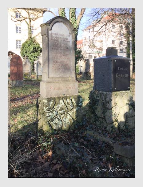Grab der Familie Mall auf dem Alten Südfriedhof München (Dezember 2017)