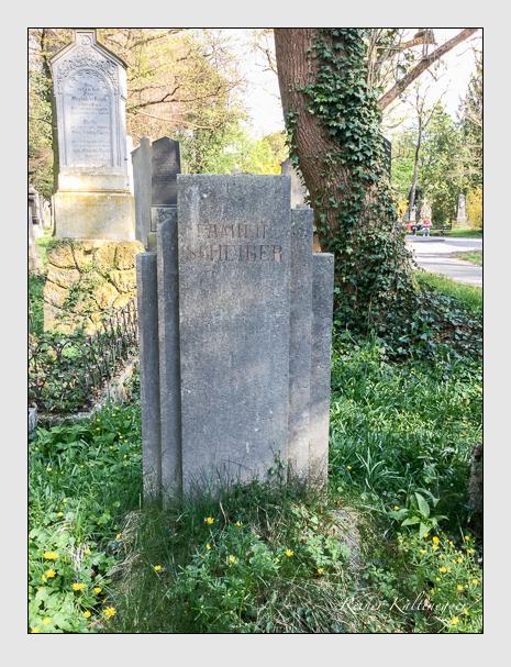 Grab der Familie Scheiber auf dem Alten Südfriedhof München (April 2018)