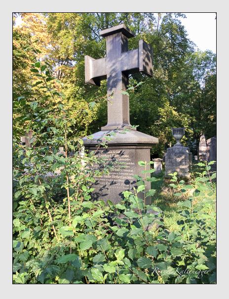Grab der Familien Dietherr & Etzlberger & Hiller auf dem Alten Südfriedhof München (September 2018)