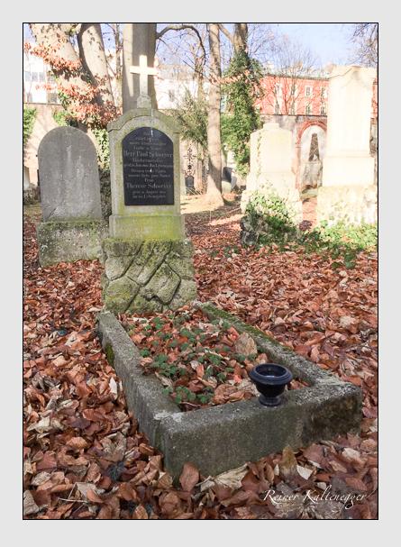 Grab der Familie Schweyer auf dem Alten Südfriedhof München (Januar 2018)