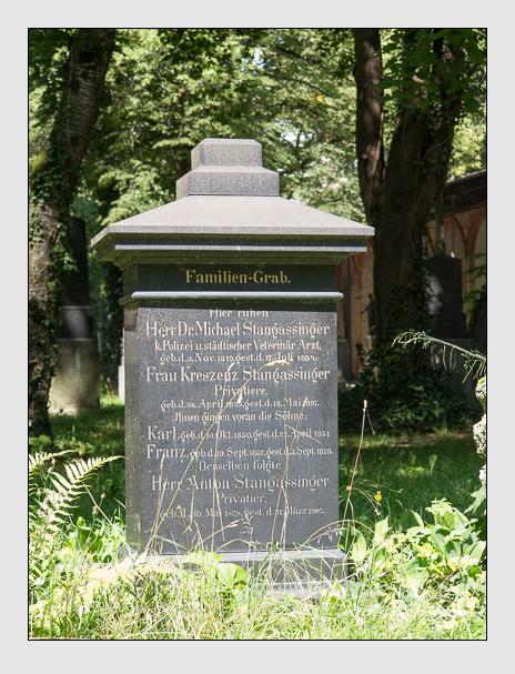 Grab der Familie Stangassinger auf dem Alten Südfriedhof München (August 2014)
