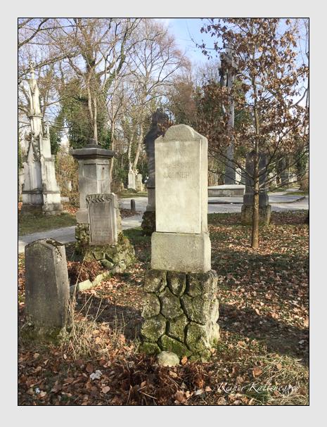 Grab der Familie Lohner auf dem Alten Südfriedhof München (März 2018)