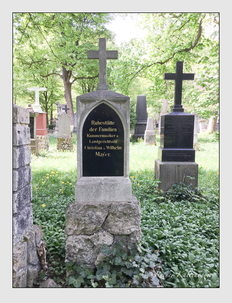 Grab der Familie Mayer auf dem Alten Südfriedhof München (April 2018)