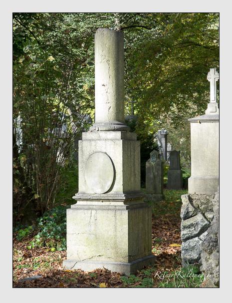 Grab der Familie Hettig auf dem Alten Südfriedhof München (Oktober 2014)