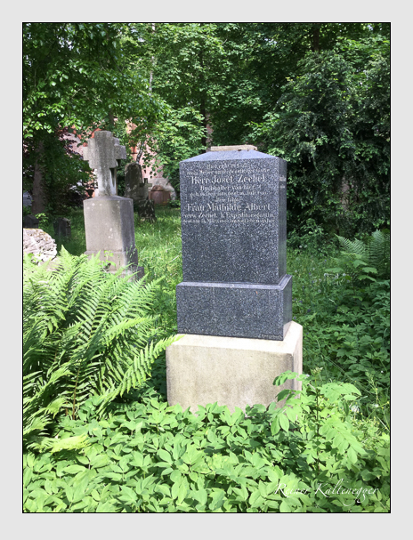 Grab der Familien Albert · Egger · Rauch · Zechel auf dem Alten Südfriedhof München (Dezember 2017)