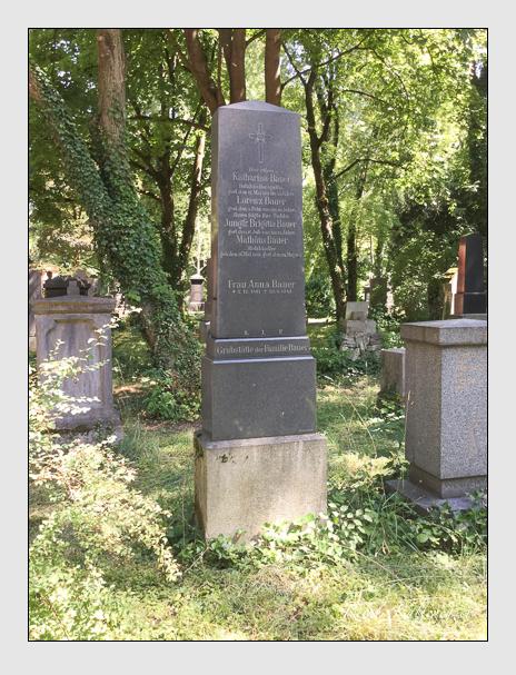 Grab der Familie Bauer auf dem Alten Südfriedhof München (Januar 2018)