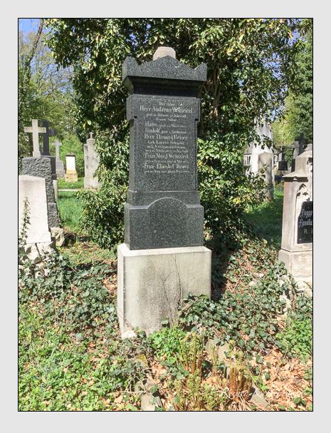 Grab der Familien Reiser · Weinzierl auf dem Alten Südfriedhof München (April 2018)