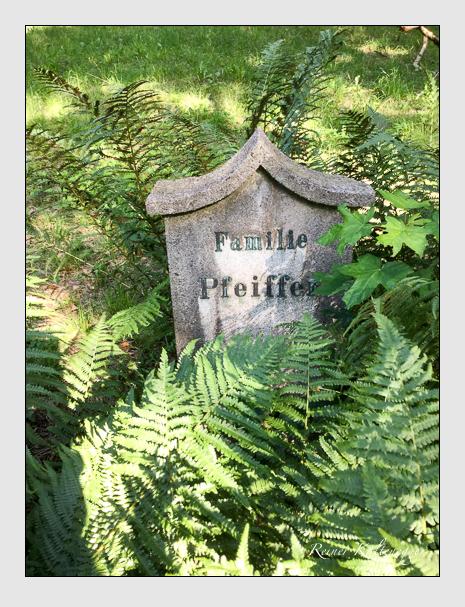 Grab der Familie Pfeiffer auf dem Alten Südfriedhof München (Juli 2019)