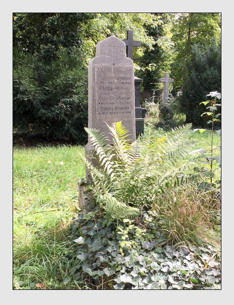 Grab der Familie Wimmer auf dem Alten Südfriedhof München (September 2019)