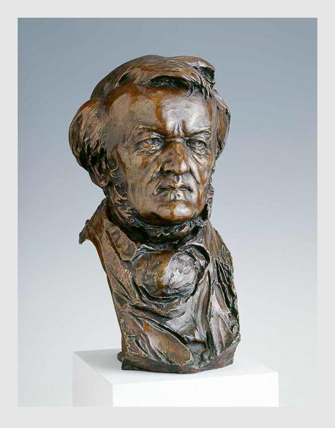 Lorenz Gedon: Wagner-Büste. 1883. Porträtsammlung des Münchner Stadtmuseums.
