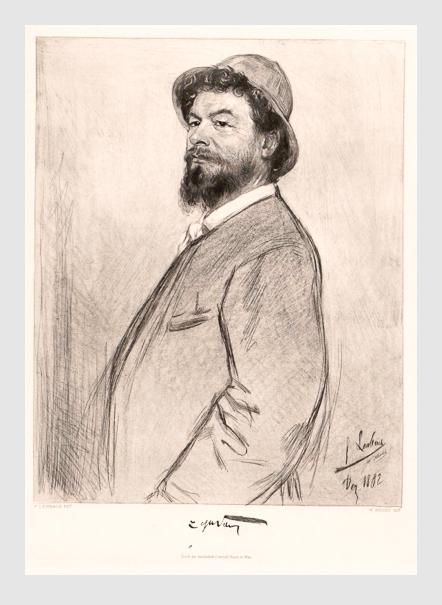 Lenbach: Lorenz Gedon. 1882. Porträtsammlung der Österreichischen Nationalbibliothek.