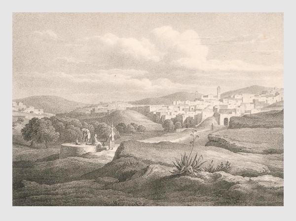 Johann Martin Bernatz: Hebron. Abbildung aus »Bilder aus dem Heiligen Lande«. Stuttgart, 1839.