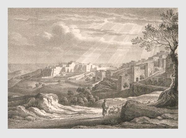 Johann Martin Bernatz: Bethlehem. Abbildung aus »Bilder aus dem Heiligen Lande«. Stuttgart, 1839.