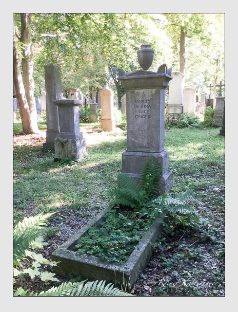 Grab der Familien de Ahna · Geiger · Monten auf dem Alten Südfriedhof München (Oktober 2016)